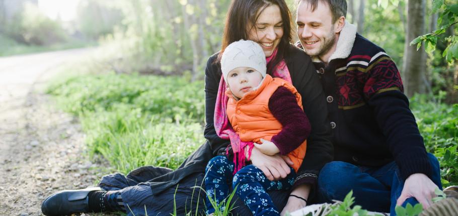Annika ja Taavi pere